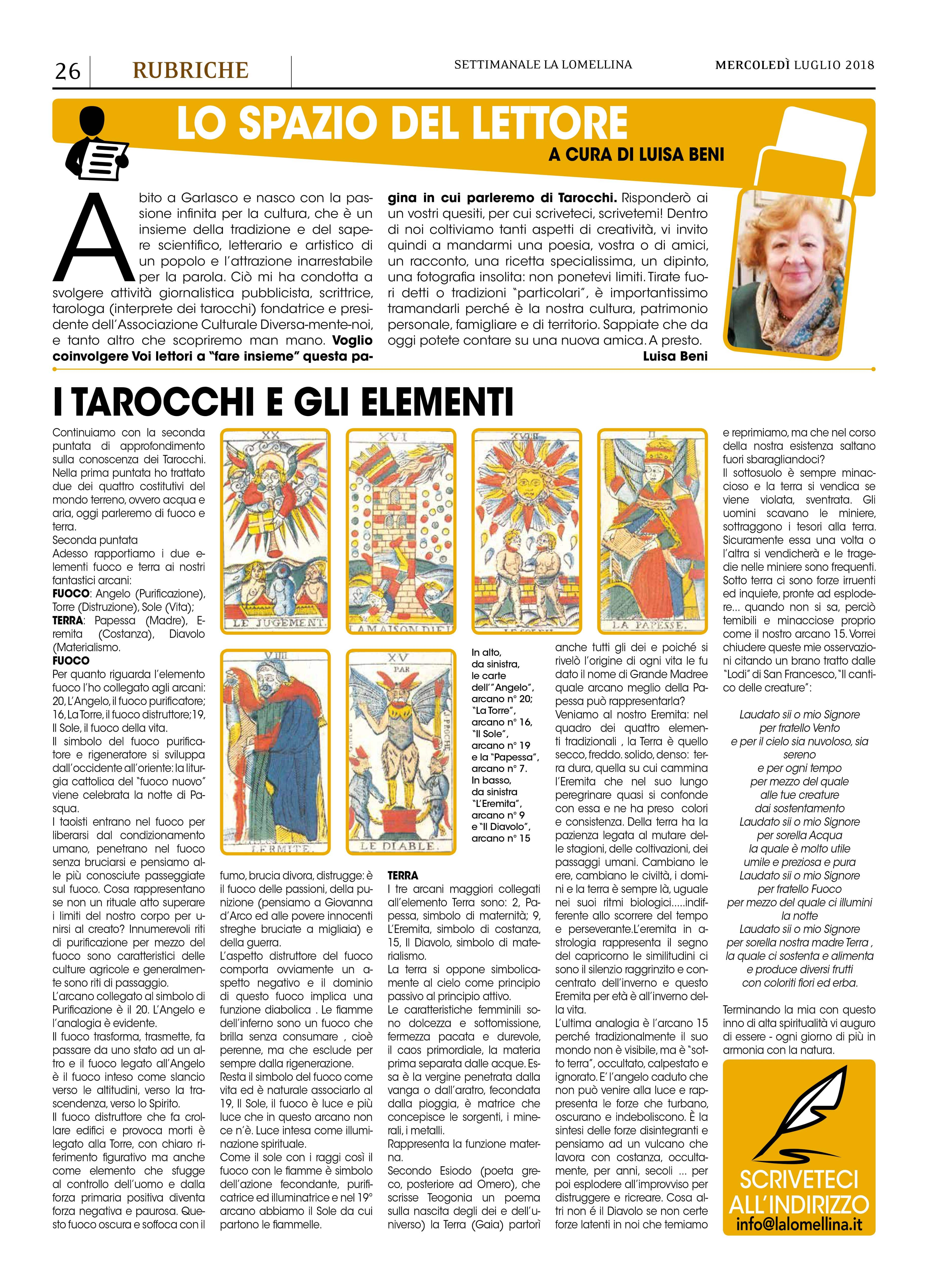 Cosa sono i Tarocchi  – La Lomellina giugno 2018 – Associazione ... a69a909c3df
